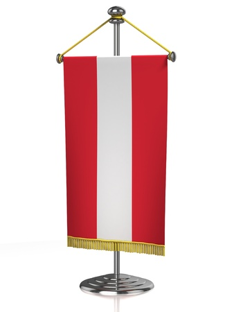 austrian flag: Austria table flag isolated on white