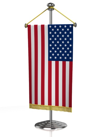 american table: american table flag isolated on white  Stock Photo