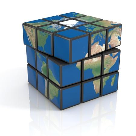 politics: global politics, globalization, 3d concept