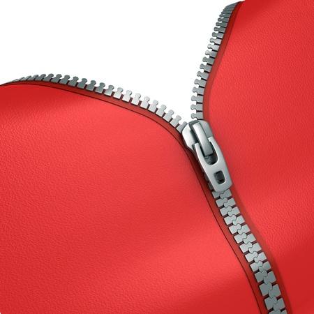 zipper 3d illustration