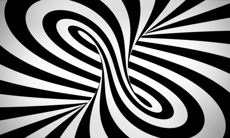 twister: abstract black and white 3d background Stock Photo