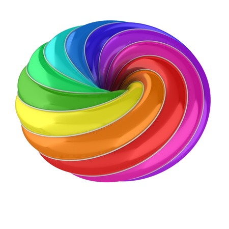 3d abstract colorful shape Stock Photo - 16573979