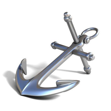 anker: 3d anchor auf wei�em Hintergrund