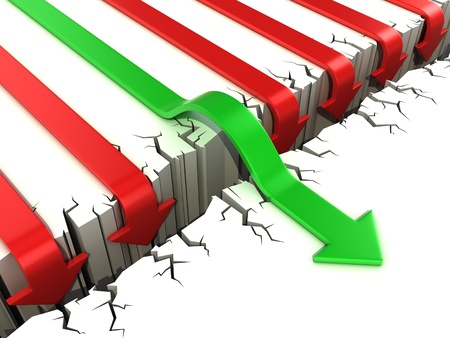 3d arrow success concept Stock Photo - 16584982