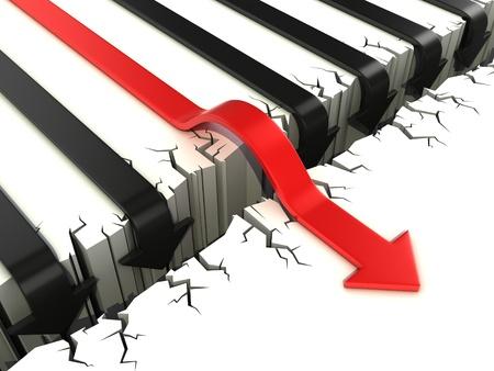 3d arrow success concept Stock Photo - 16584980
