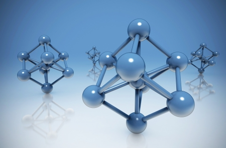 molecules abstract background photo