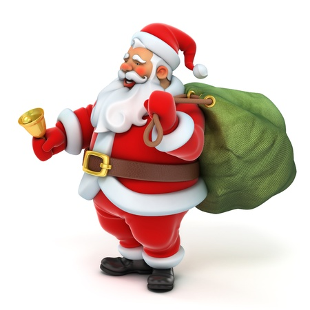 figurines: santa claus 3d
