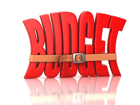 squeezing: budget recession, deficit Stock Photo