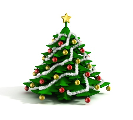 christmas tree 3d illustration illustration