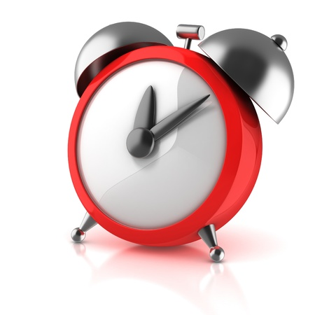 wake: alarm clock 3d illustration isolated on white