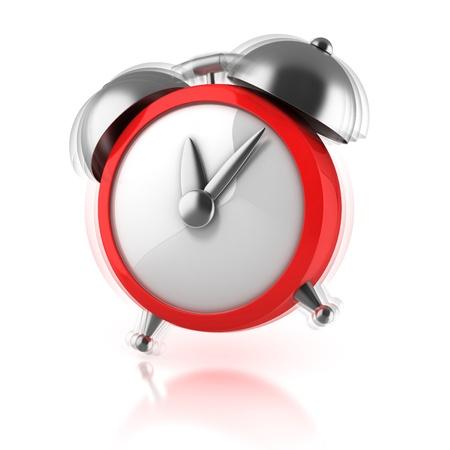 air hammer: alarm clock ringing 3d illustration
