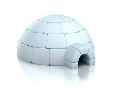igloo: igloo 3d illustration