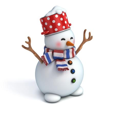 Snowman: 3d snowman