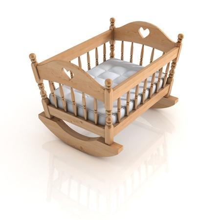 cradle isolated Stock Photo