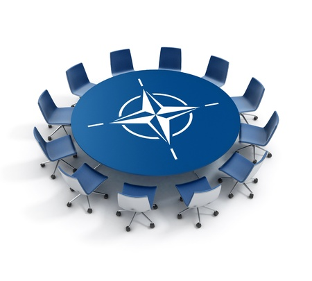 Nato meeting 3d concept photo