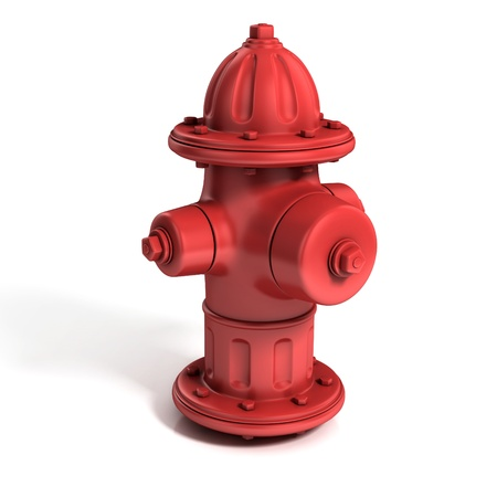 fire hydrant: fire hydrant 3d illustration isolated on white Stock Photo