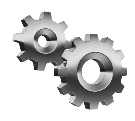 3d gears - options properties icon Stock Photo