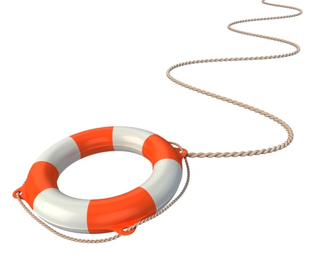 life preserver: lifebuoy in the air - aid, saving 3d concept