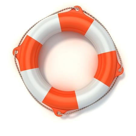 security equipment: lifebuoy 3d illustration isolated on white