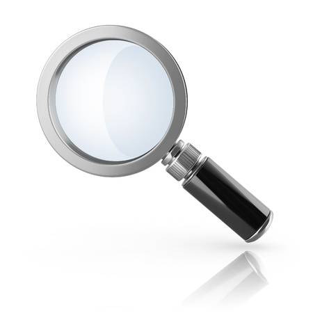 magnifier loupe 3d icon Stock Photo - 16592631