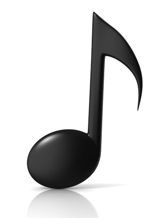treble clef: music note 3d icon on white background Stock Photo