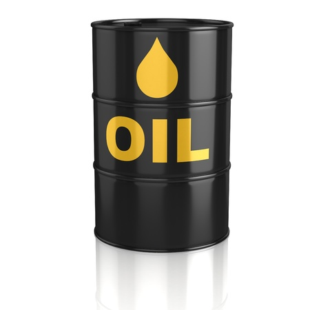 gas cylinder: oil tank 3d icon Stock Photo