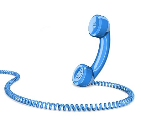 speaking tube: Telephone handset on white