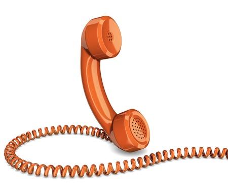 speaking tube: Telephone handset isolated Stock Photo