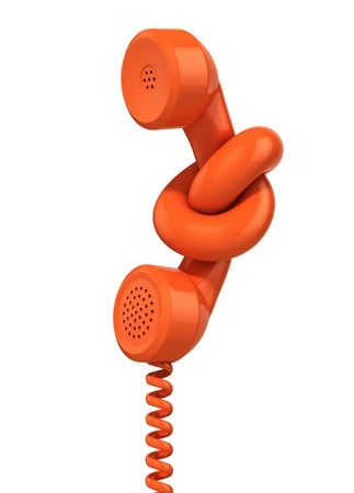 PHONE LINE: communication problem - phone handset tied in knot