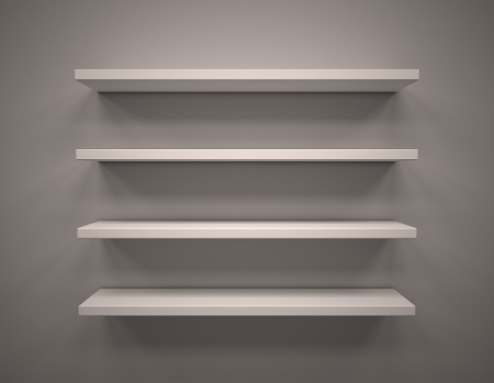 3d Empty shelves photo