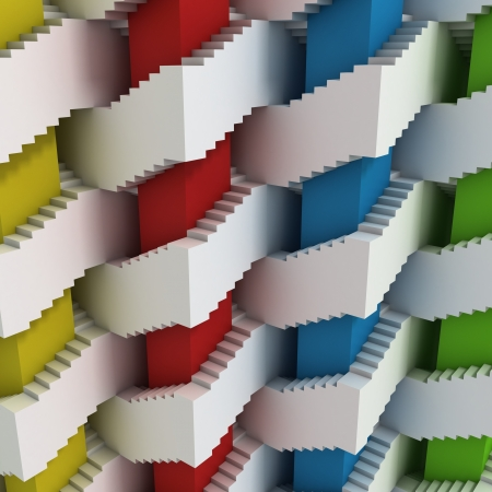 abstract 3d stairs maze photo