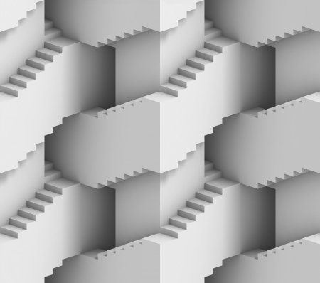 abstract 3d stairs maze - seamless background photo