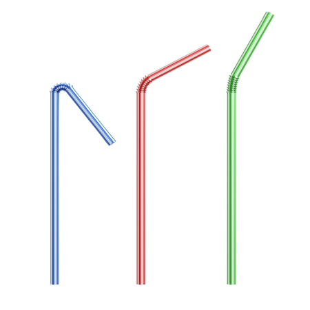 drinking straws isolated photo