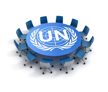 UN meeting 3d concept photo