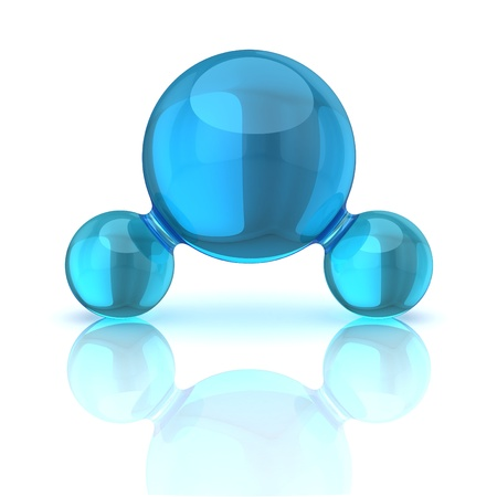 molecula de agua: ilustraci�n 3d mol�cula de agua aislado en blanco Foto de archivo