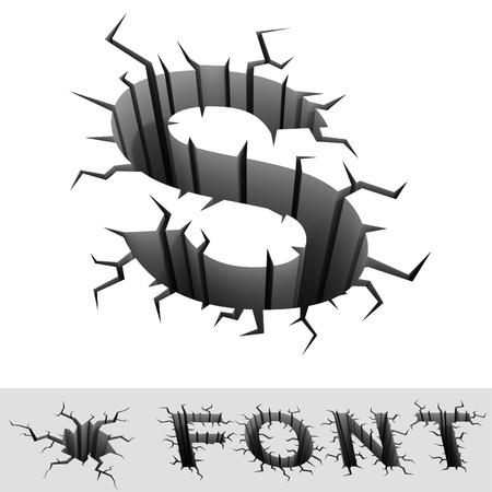 buchstabe s: Risse font letter S