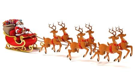santa sledge deers