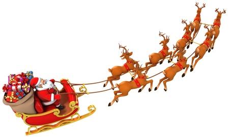 renna: Santa slitta cervi