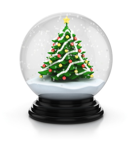 golden globe: snowdome christmas tree