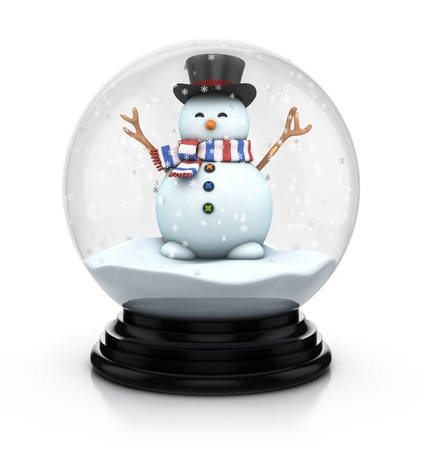 snowdome: snowdome snowman Stock Photo