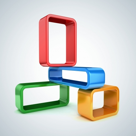 Abstract 3d frames photo