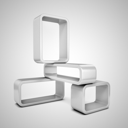 Abstract 3d frames Stock Photo - 19776161