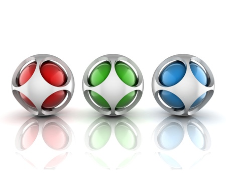 abstract 3d spheres set photo