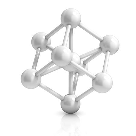 3d ball: molecule 3d icon Stock Photo