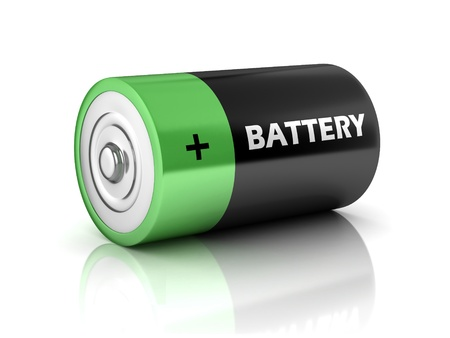 POSITIVE NEGATIVE: battery 3d icon