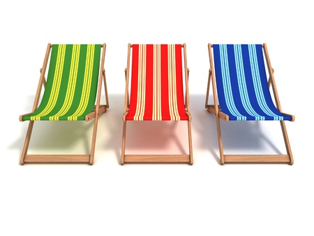 outdoor chair: beach chair 3d illustration Stock Photo
