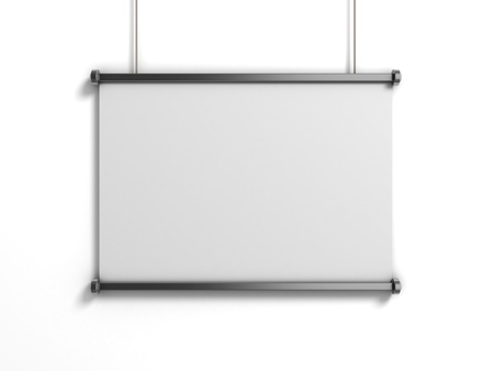 notices: blank presentation board