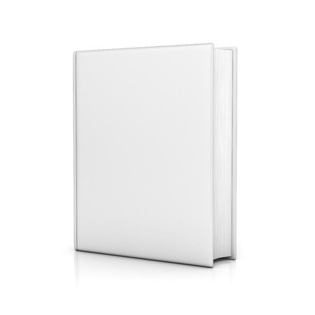 hardcovers: white book with blank covers