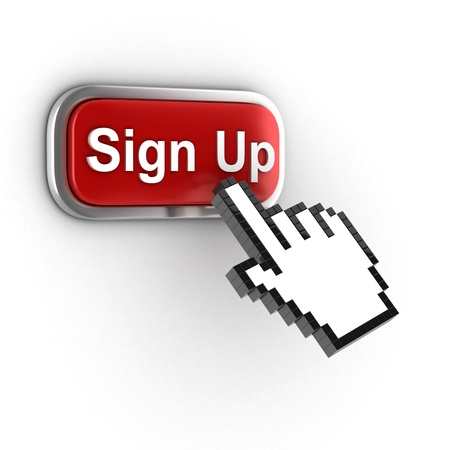 signup: sign up 3d button