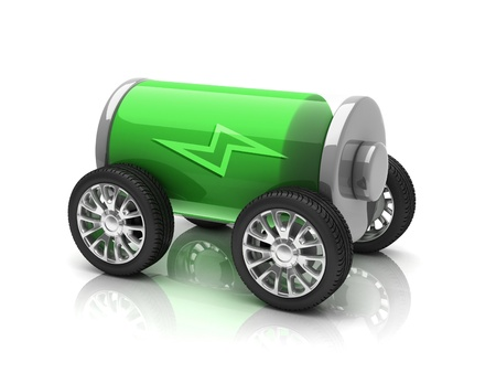 electric car 3d concept photo